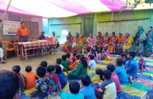 তরুণদের উদ্যোগে চরাঞ্চলে শিক্ষা কেন্দ্র চালু