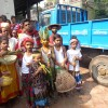 মানিকগঞ্জে বর্ণিল সাজে বর্ষবরণ