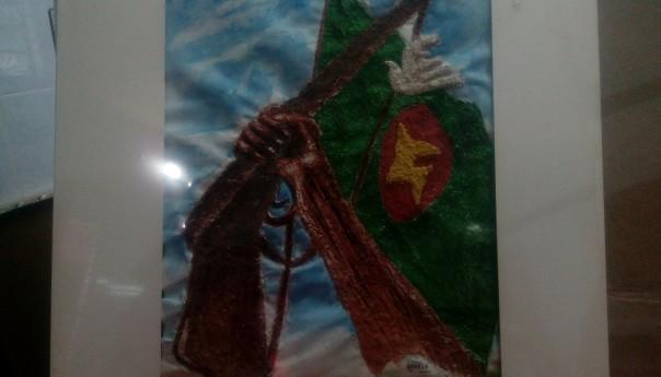 এম এ জলিলের রং তুলীতে ভেসে ওঠে মুক্তিযুদ্ধের ছবি