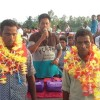 নৌবাড়িয়া যুব সমাজের উদ্যোগে ঘাটমাঝি বিমল ও সাধনকে সংবর্ধনা