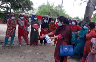 রাজশাহী নগরে 'করোনামুক্ত বস্তি চাই' শীর্ষক প্রচারাভিযান অনুষ্ঠিত